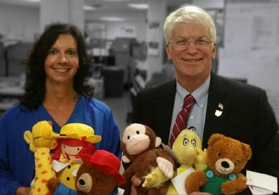 Toys for youth visiting Van Wert Health and ER
