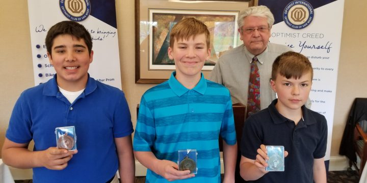 Optimist Club Hosts Oratorical Contest for Students